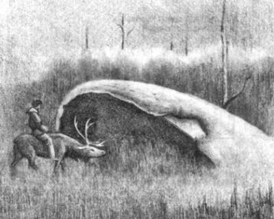 Этот рисунок сделал художник Юрий Михайловский по рассказам старого кочевника