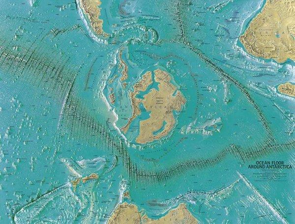 Карта, сделанная Генрихом К.Беранном для Национального географического общества в 1966 году. По-видимому, он показывает вход на Внутреннюю Землю.