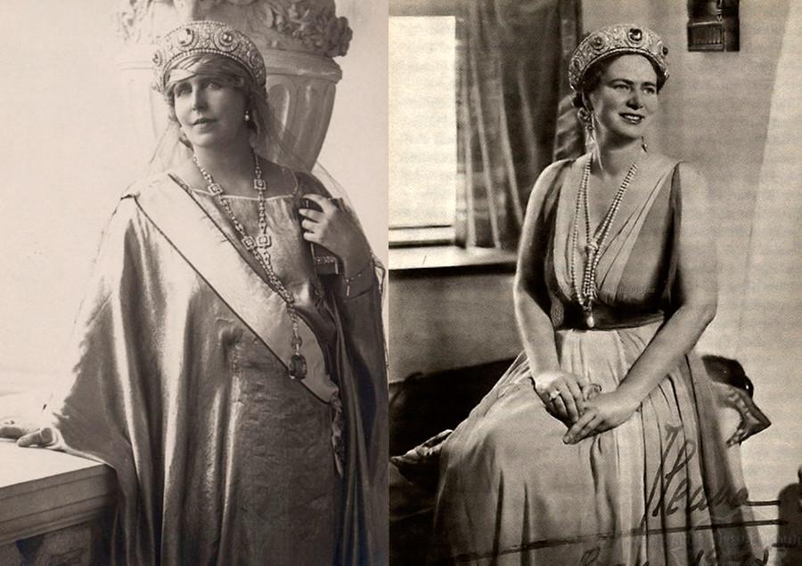Румынская королева Мария и принцесса Илеана.