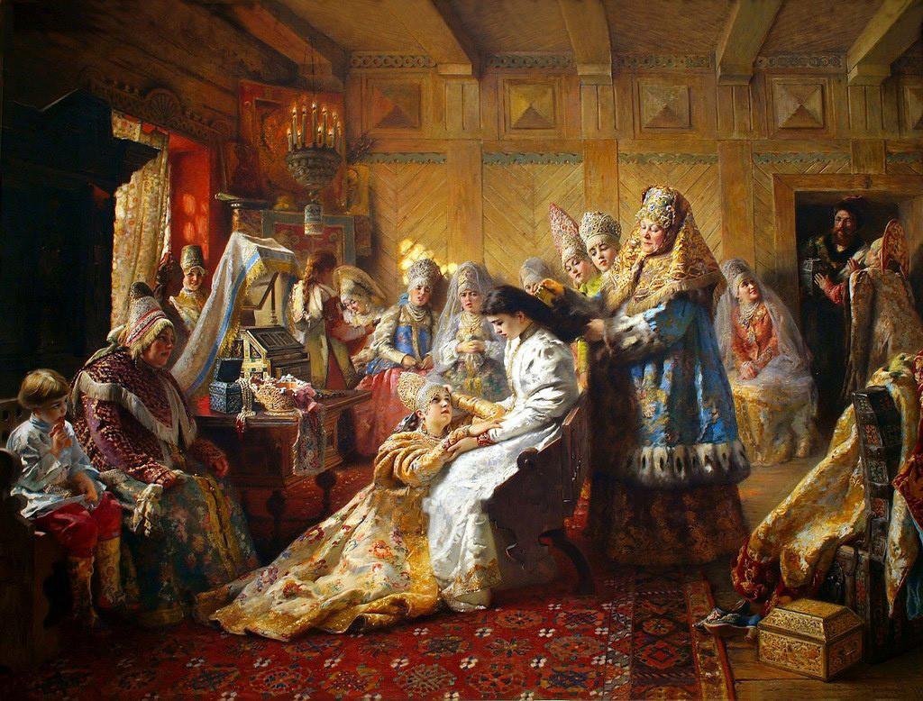 «Под венец»,  Константин Маковский, 1890 год