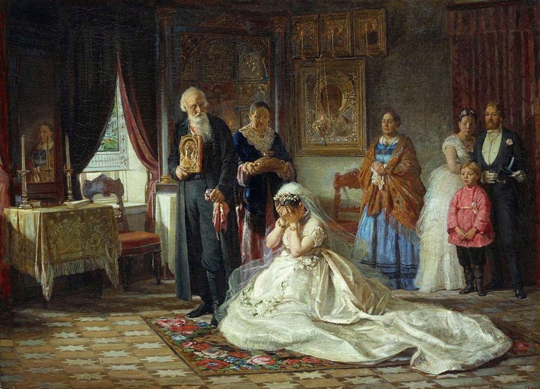 «Перед венцом», Фирс Журавлев, 1874