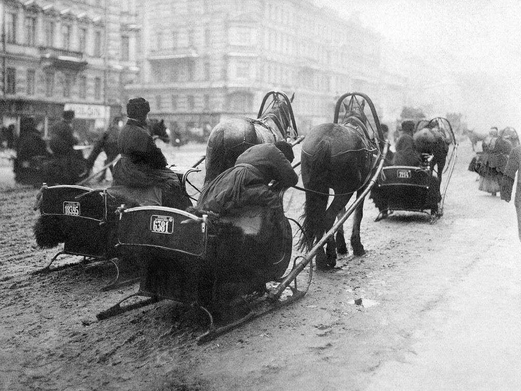 Конные сани. 1907