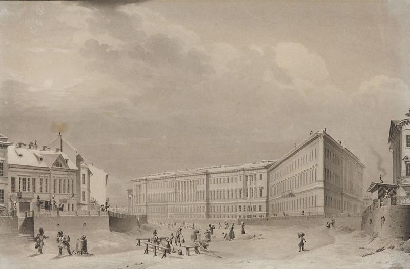 1833. Здание Главного штаба на набережной реки Мойки