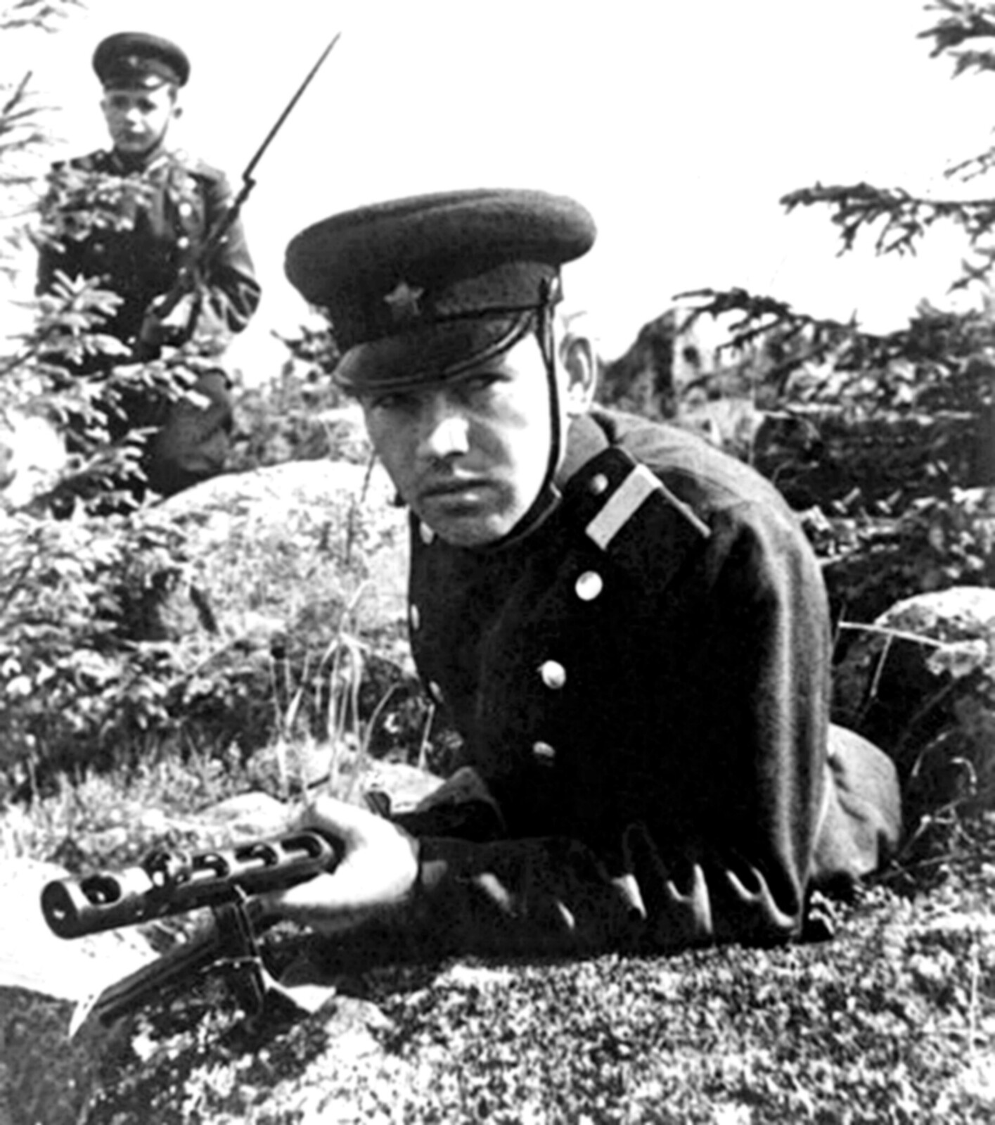 1940-е (конец).Карелия, пограничники в дозоре