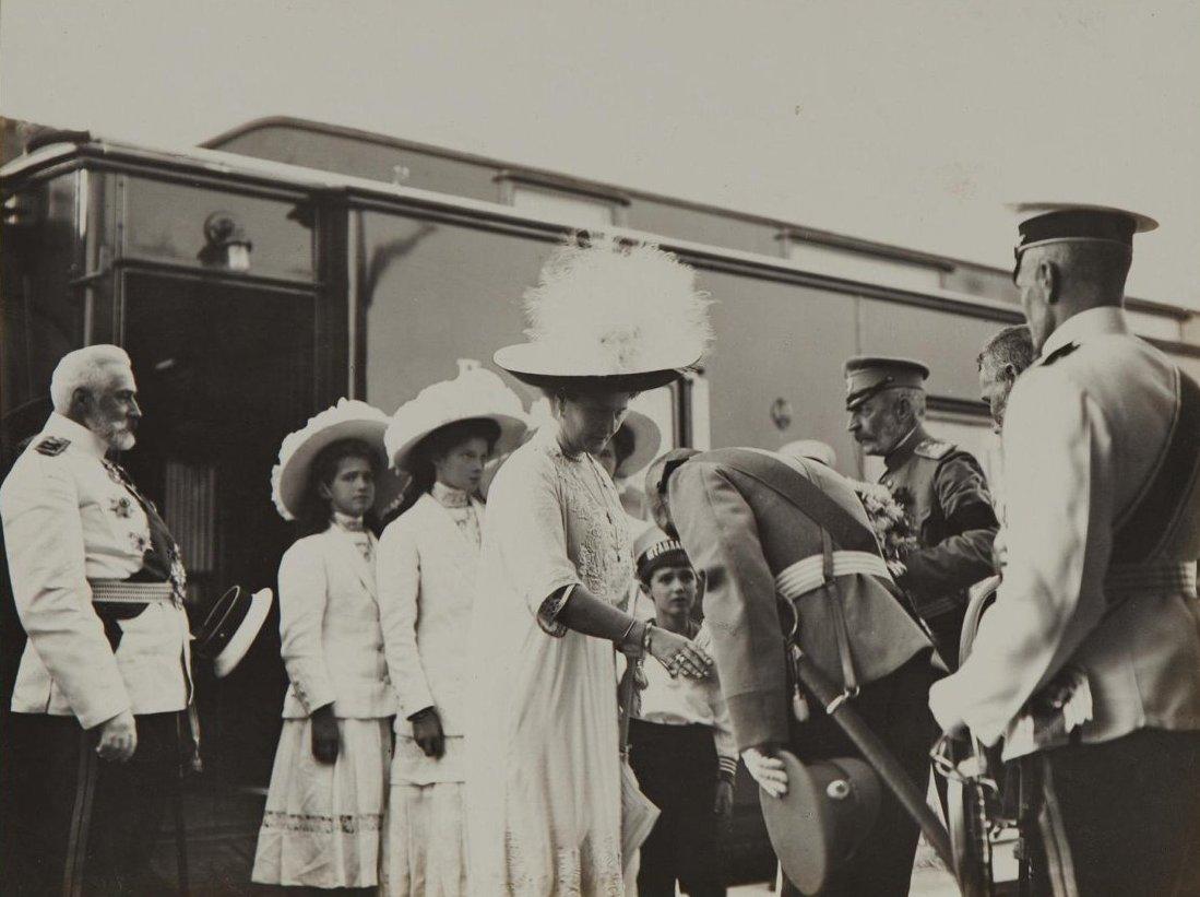 1912. Прибытие императрицы Александры Федоровны с детьми в Севастополь