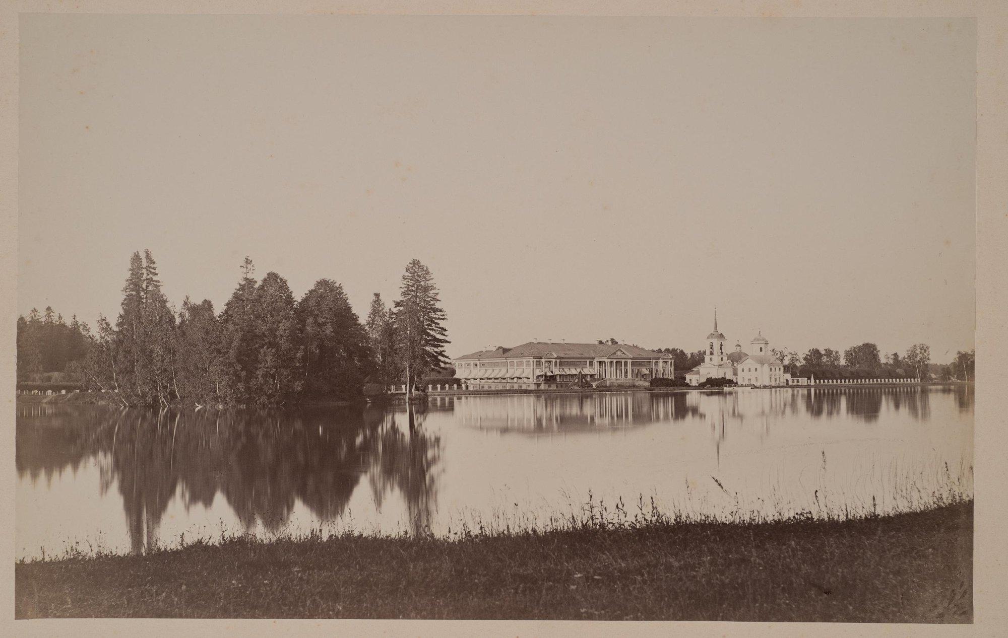 1880-е. Панорама Кускова из-за пруда