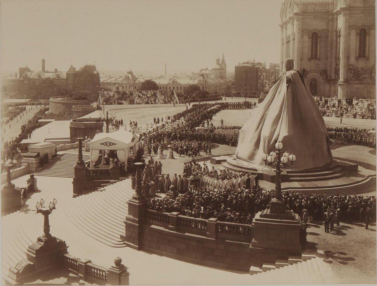 1912. Открытие памятника императору Александру III в Москве