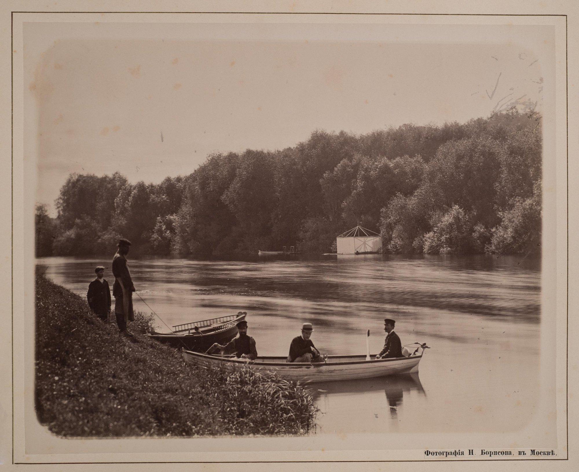 1882. Катание на лодке в Плещееве