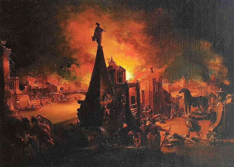 Троянский конь, Троянская война, падение Трои