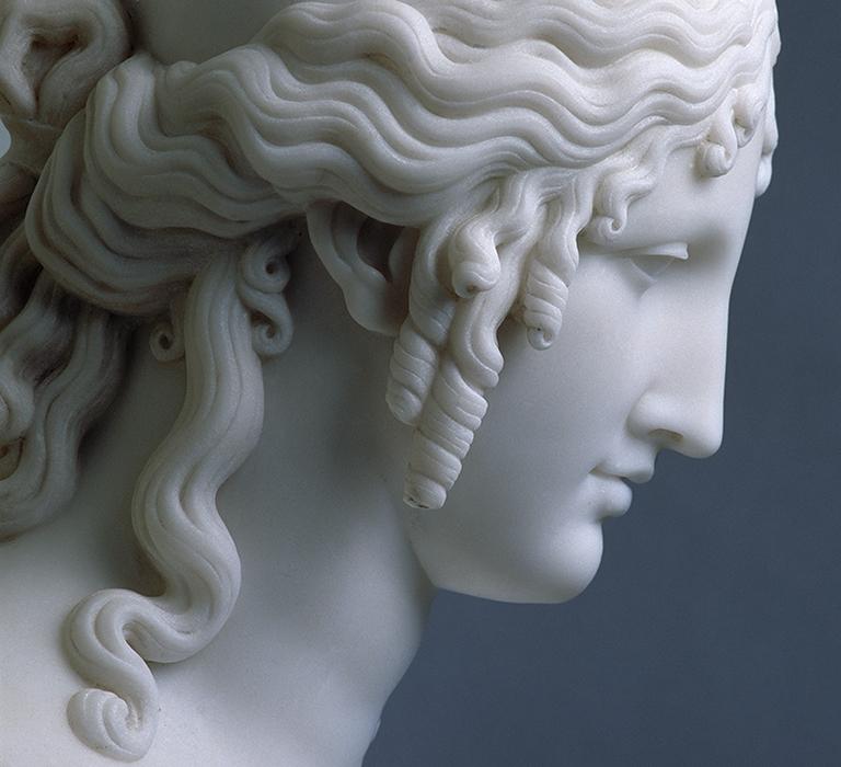 Detail of <Head of Helen> by Antonio Canova