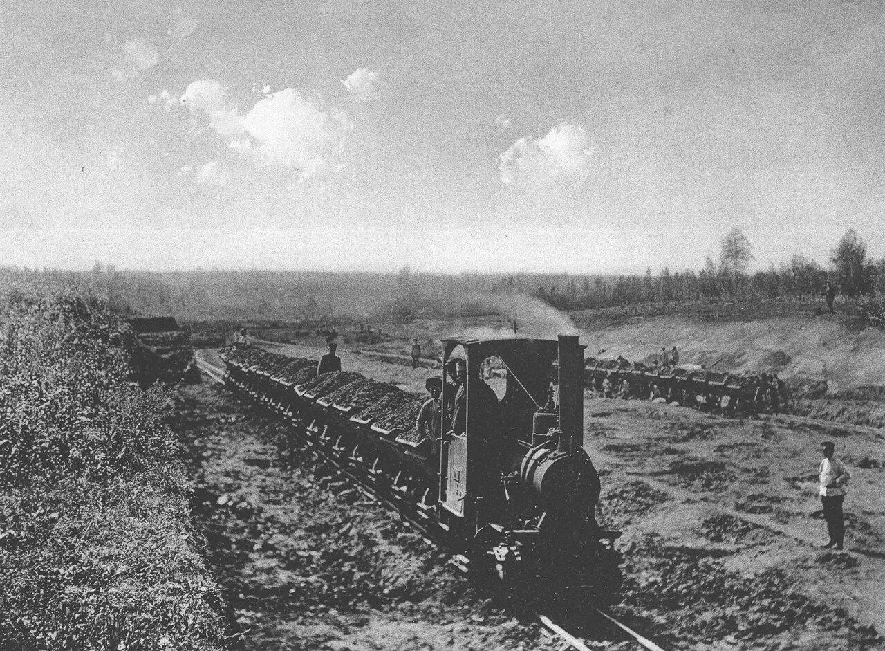 05. 2242-2243 версты. Работы перевальной мокрой выемке. Строительный период 1908