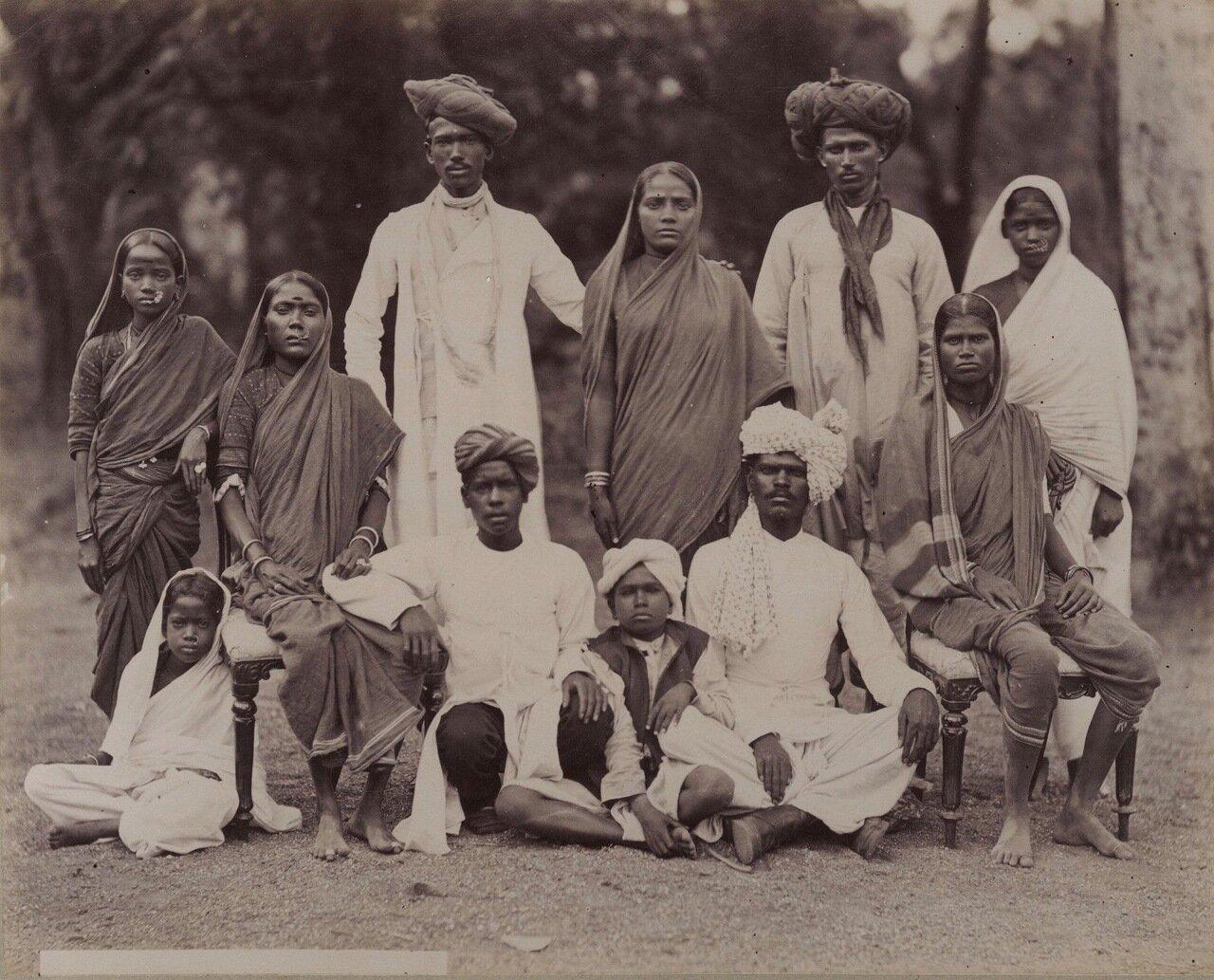 Индийская семья. 1880