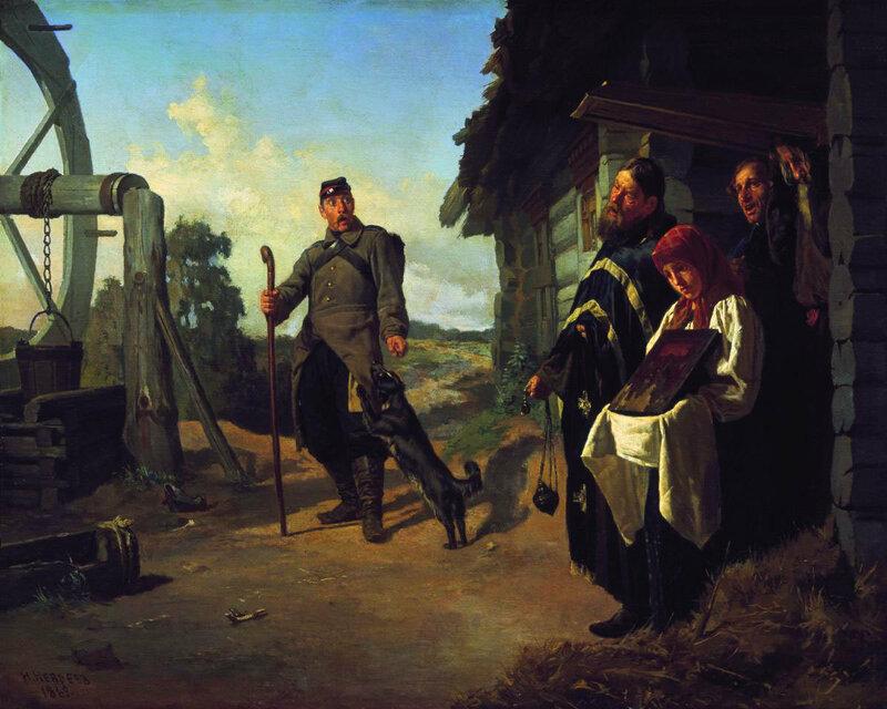 Неврев Н В Возвращение солдата на родину 1869.jpg