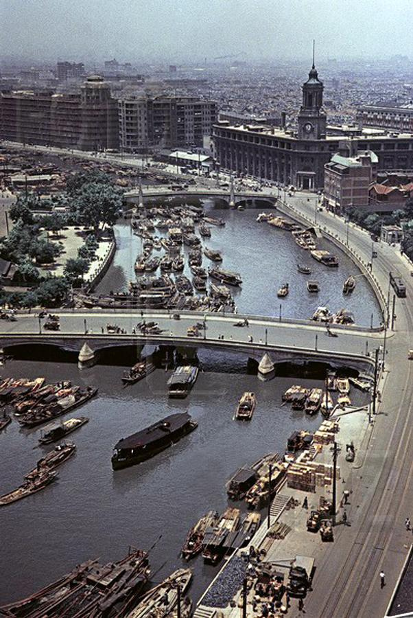 1956 Шанхай Вид на реку Янцзы САВИН Михаил.jpg
