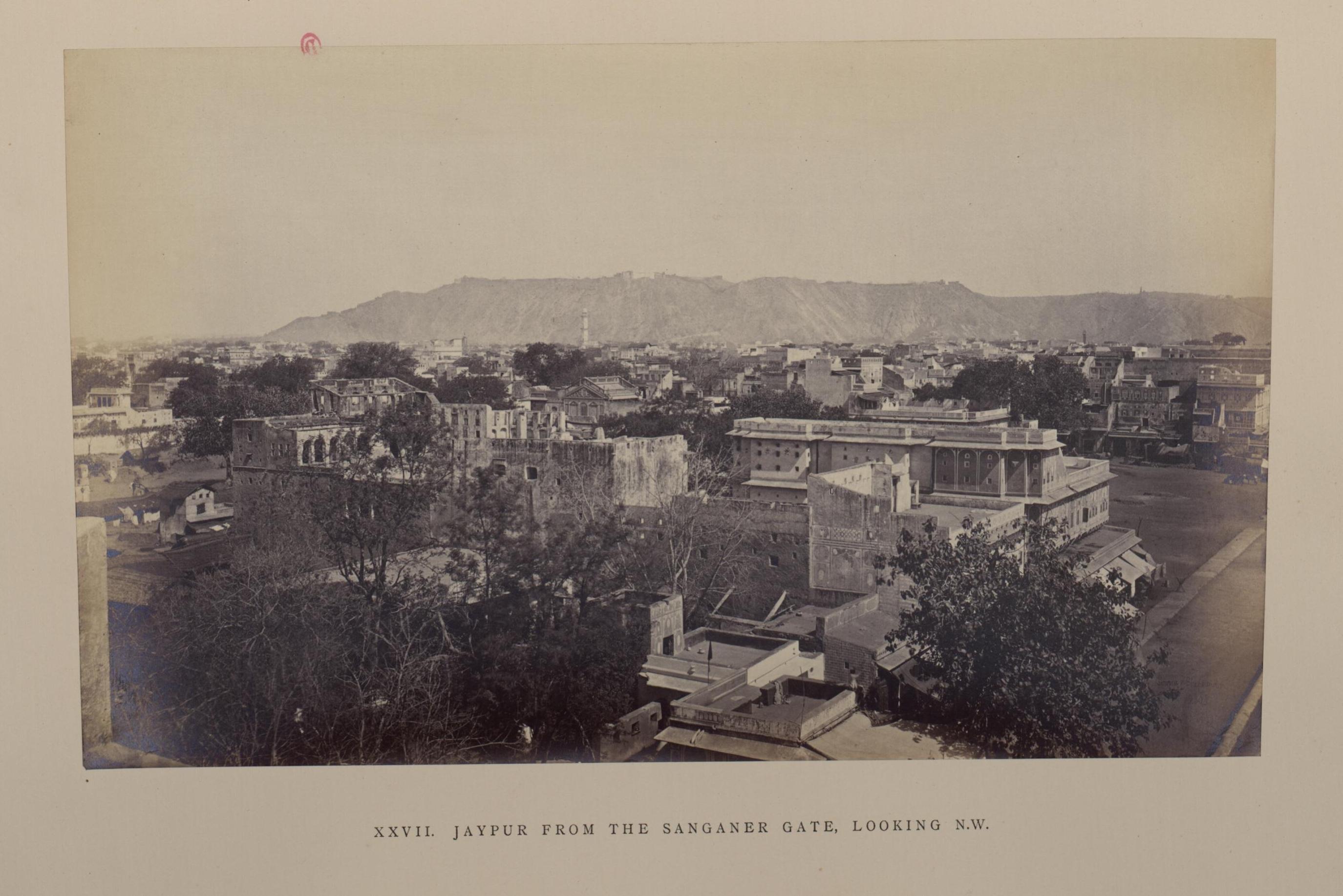 Джайпур. Вид на северо-восток от ворот Санганера