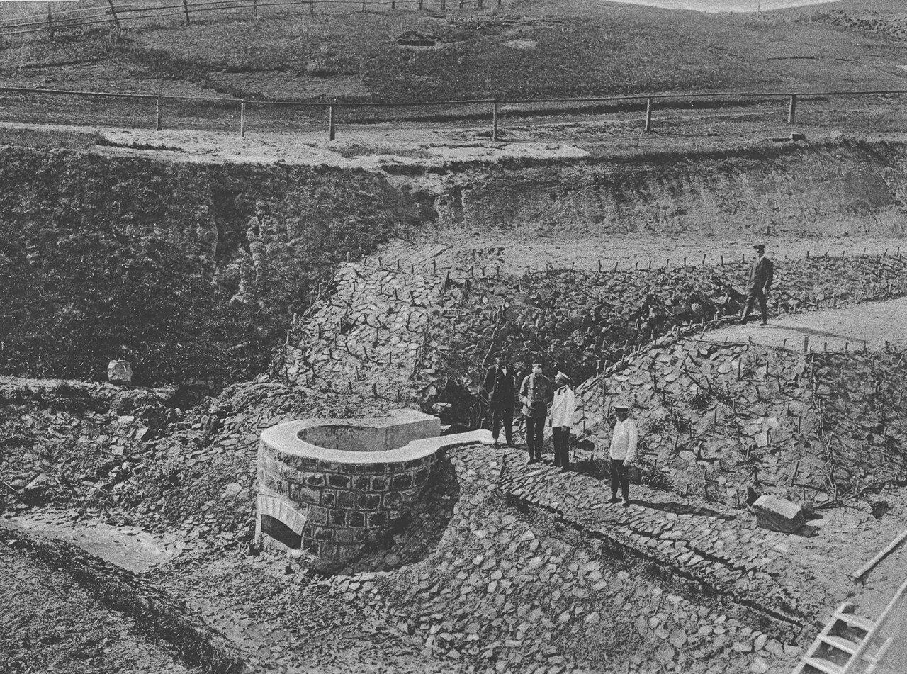 08. 2286 верста. Водоотбойный колодец в конце нагорной канавы. Строительный период 1910