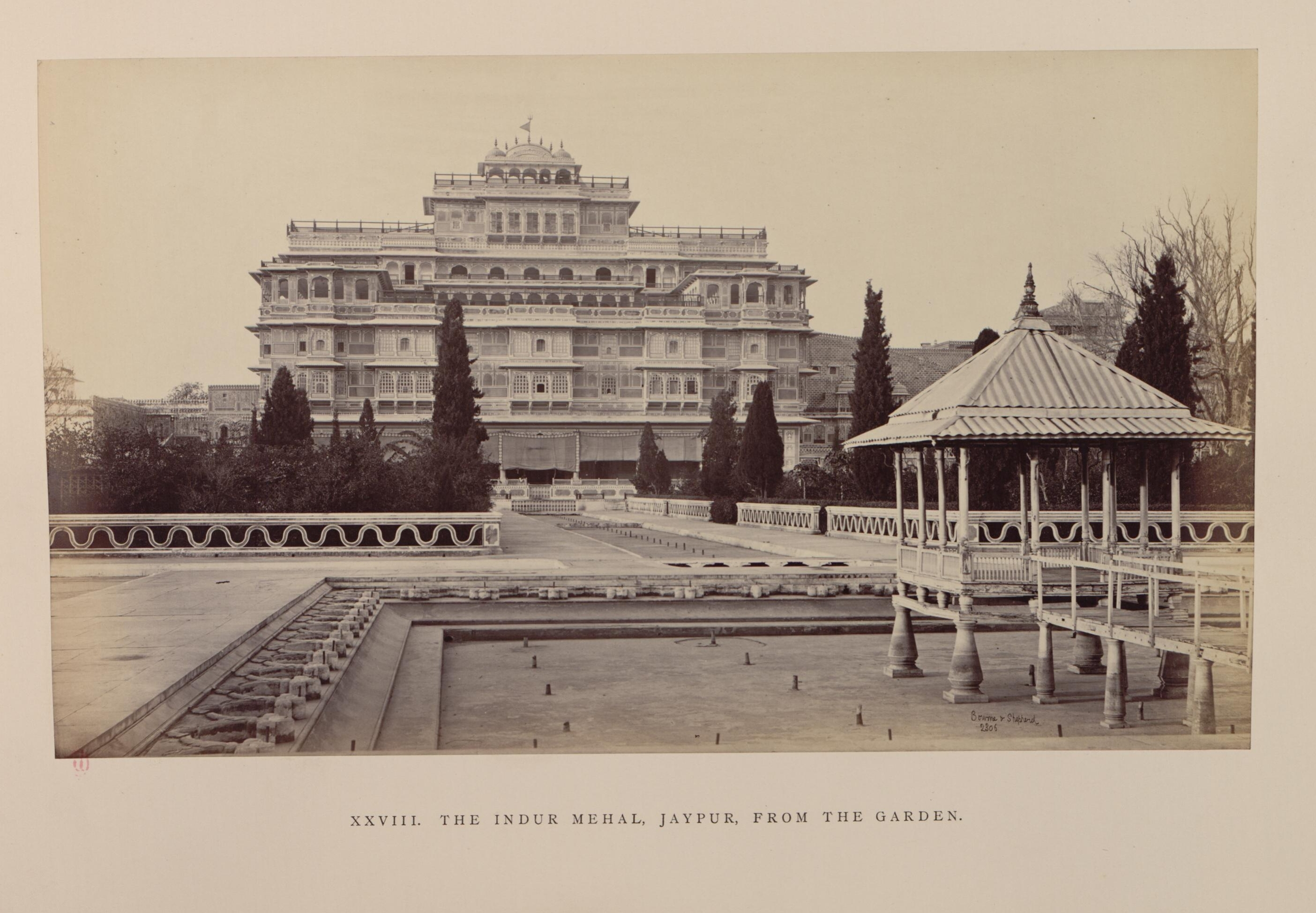 Джайпур. Вид на Индур-Махал из сада