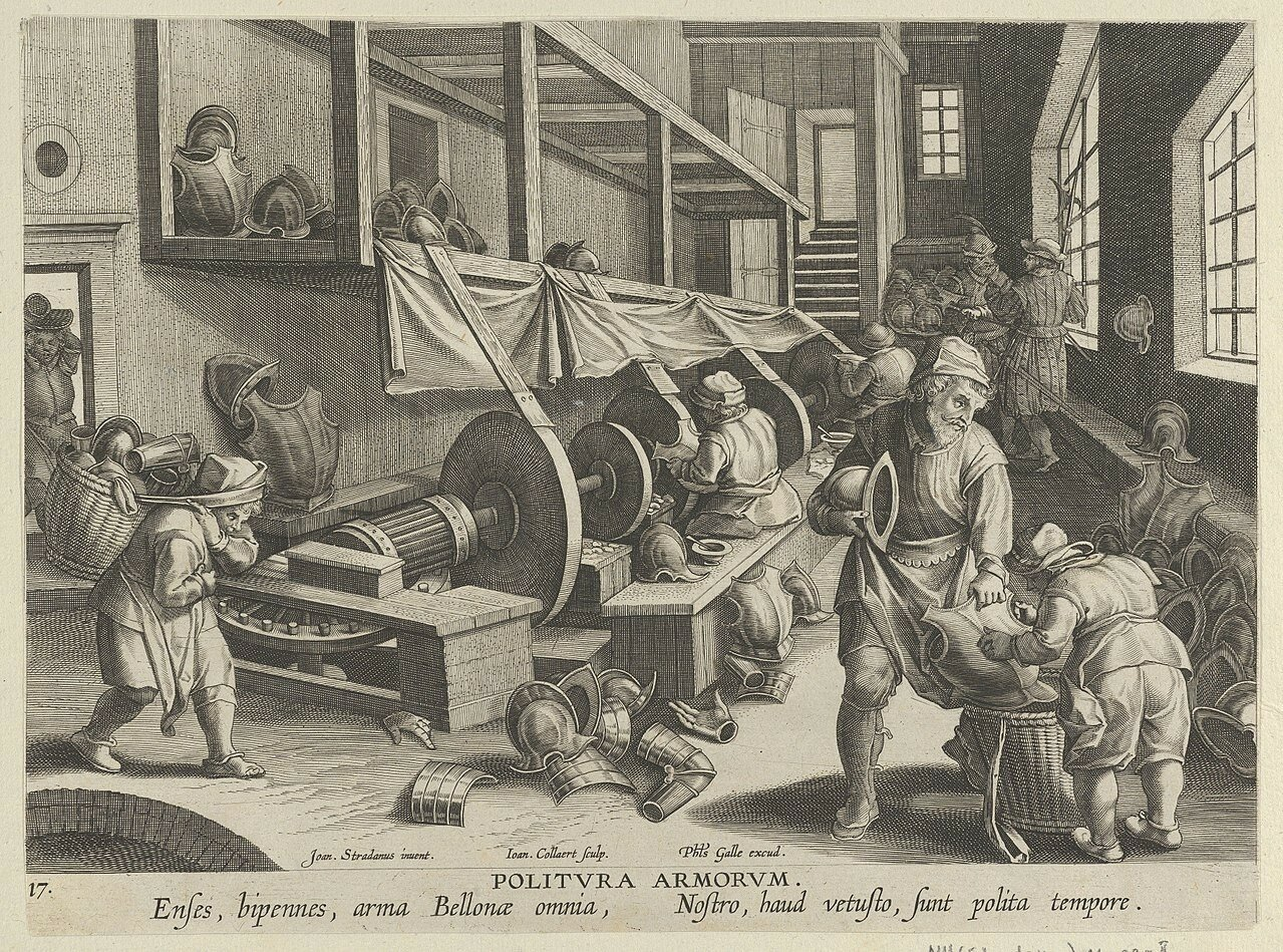 1280px-New_Inventions_of_Modern_Times_-Nova_Reperta-,_The_Invention_of_the_Polishing_of_Armor,_plate_17_MET_DP841114.jpg