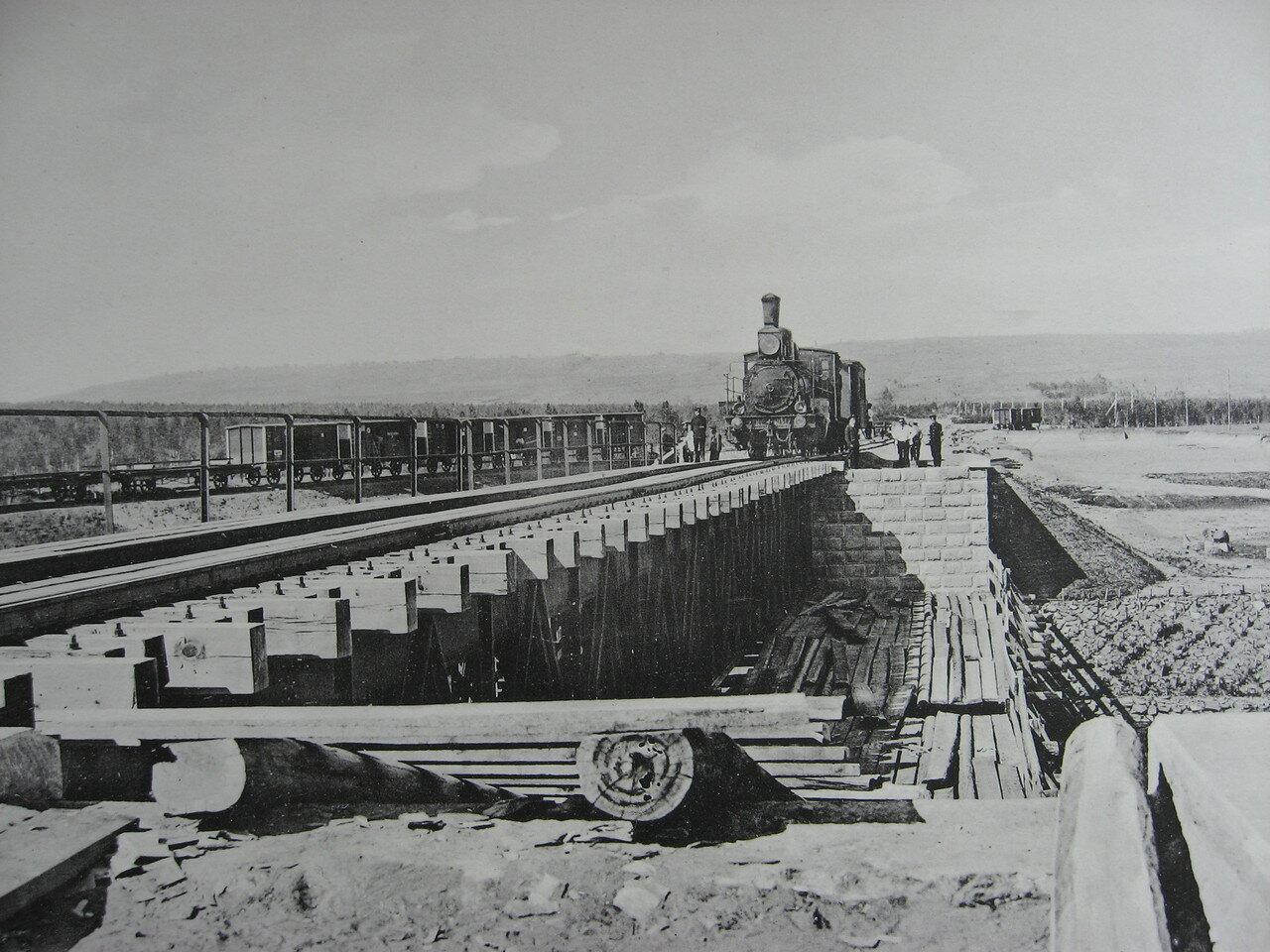 07. 2283 верста. Мост через р. Иланку. Строительный период 1910