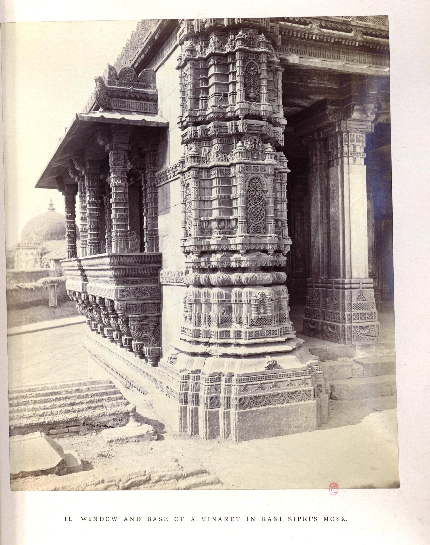 Ахмадабад. Мечеть Рани Сипри. Цоколь и окно минарета