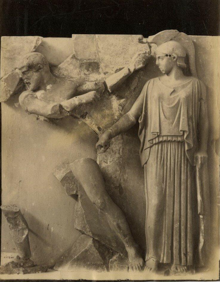 Метопа храма Зевса. 1892