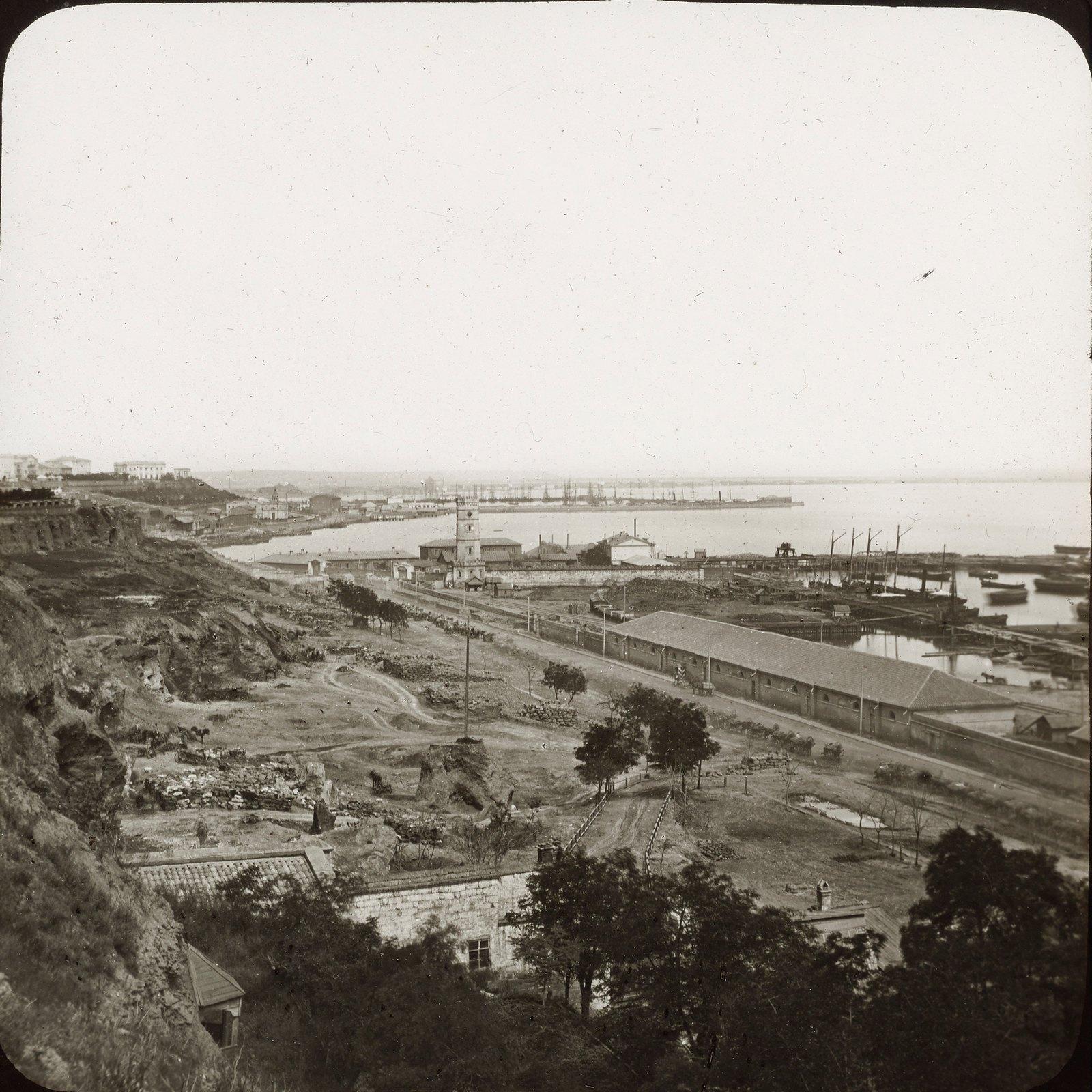 Одесса. Панорама порта