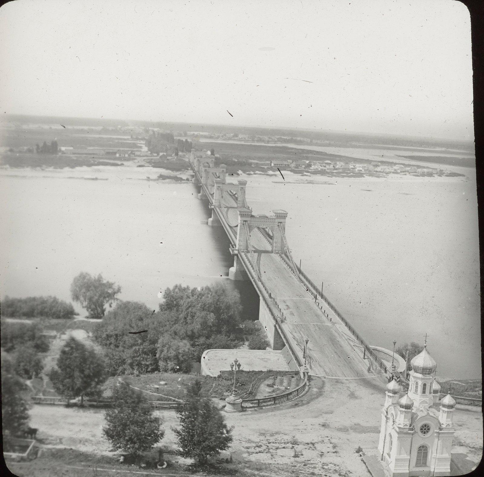 Киев. Мост через Днепр