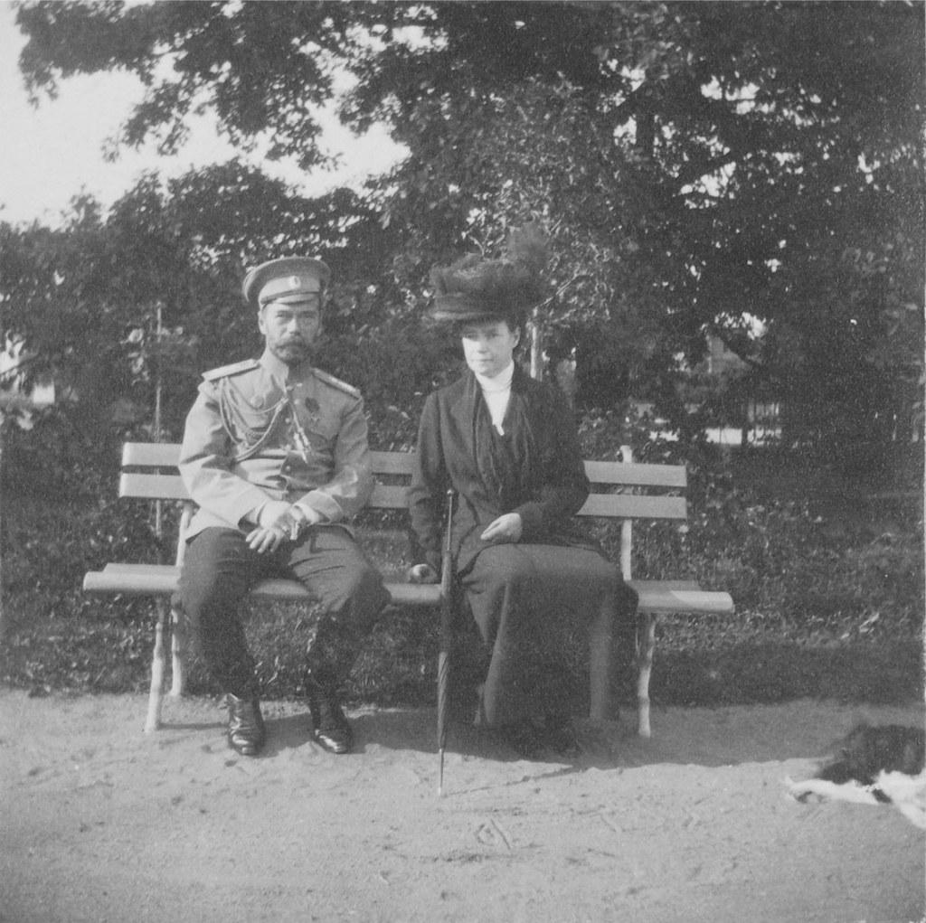 1914. Николай II и Мария Фёдоровна. Елагин остров