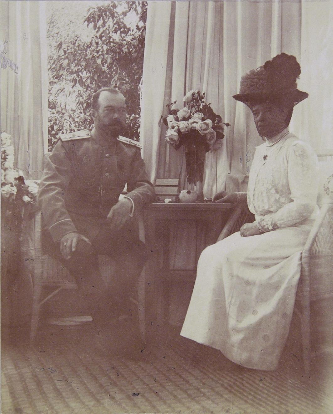 1914. Елагин дворец. Николай II и Мария Фёдоровна