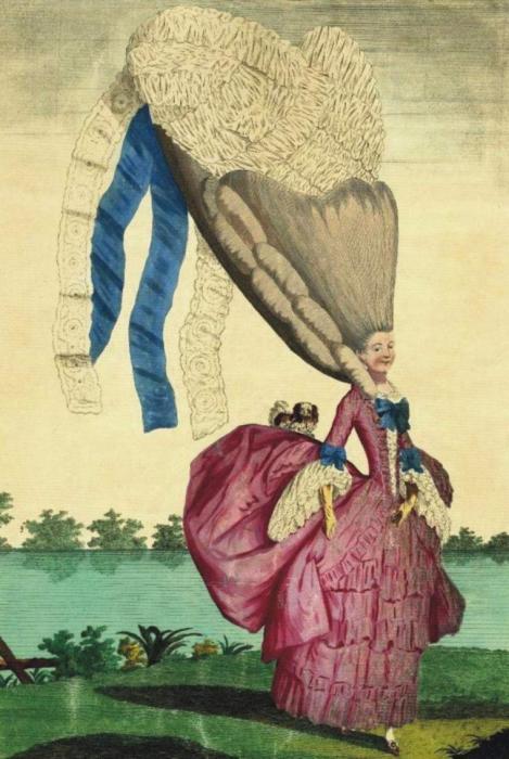 Прически в 18 веке достигал полутора метра. / Фото: zen.yandex.ru