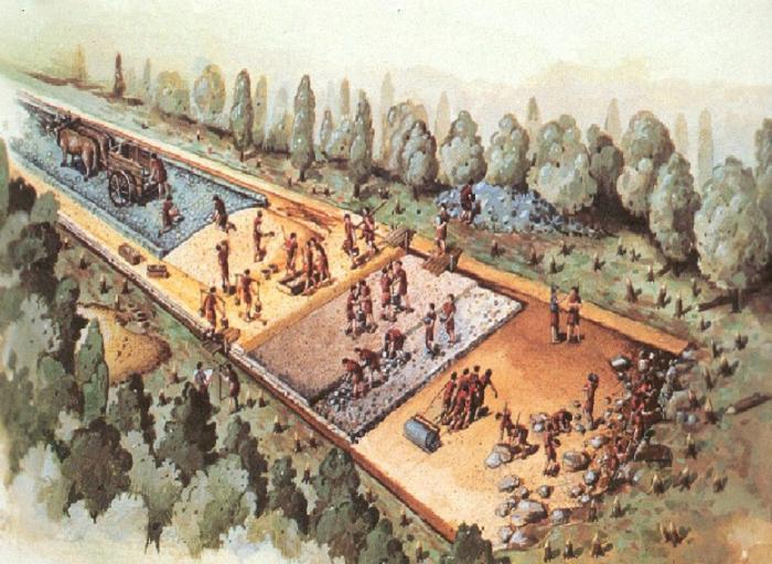 Дороги строили преимущественно легионеры, они же их обслуживали. |Фото: bing.com.