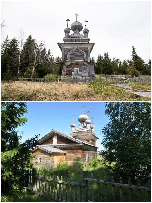 Церковь Петра и Павла в Вирме была срублена в XVII в. (Карелия).   Фото: bigpicture.ru, © Алексей Куликов/ tourister.ru.