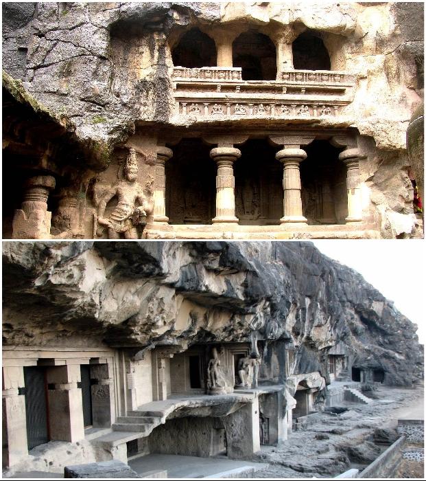 Пещерный комплекс Эллоры входят в Список всемирного наследия ЮНЕСКО (Индия).