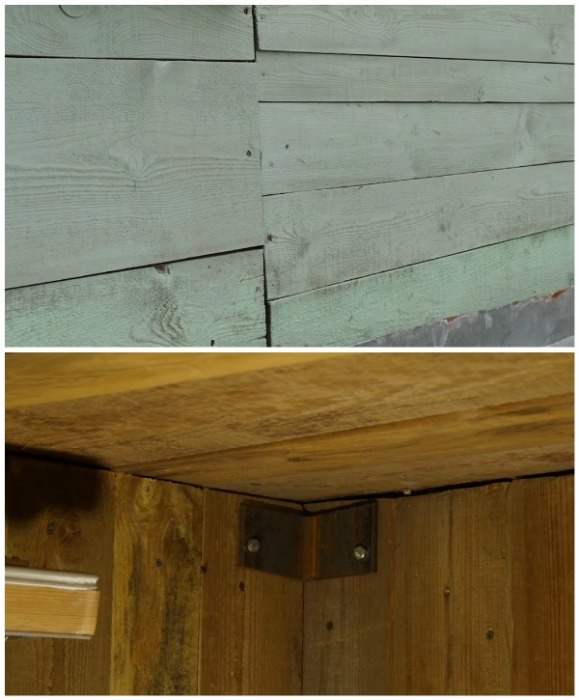 Как из внутренней, так и с внешней стороны дом был из дерева (д. Зарытки, Рязанская обл.).   Фото: youtube.com/ FORUMHOUSE.