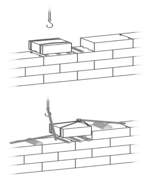 С помощью деревянных катков и рычагов каменные блоки устанавливали на нужное место. | Фото: golosodesa.com.ua./ ©Alessandro Pierattini.