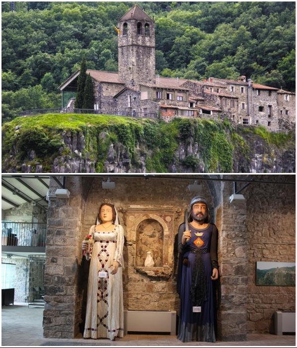 Городская церковь Св. Сальвадора была построена в XIII в. (Castellfollit de la Roca, Испания). | Фото: transfer-gidbarcelona.ru.