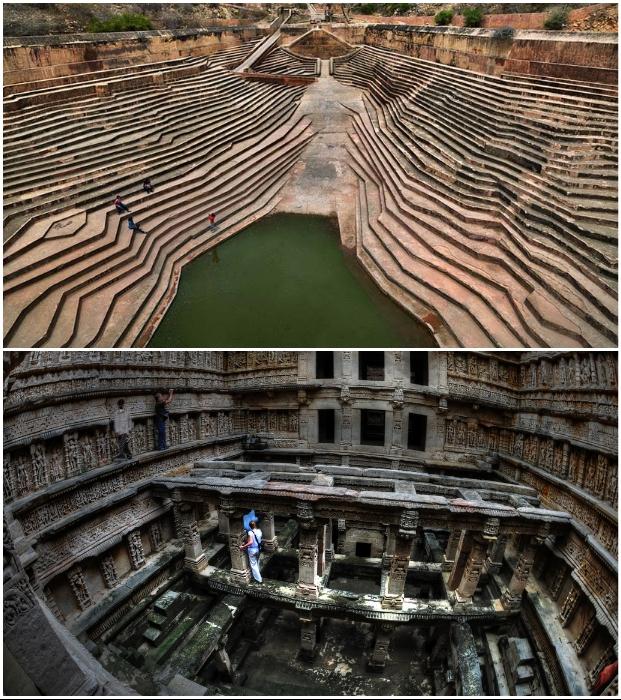 Красота форм гидротехнических сооружений удивляет уже не одну сотню лет (Индия).