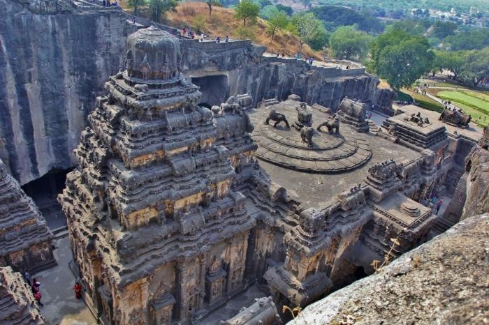 Храм Кайлаш – невероятное рукотворное чудо Индии (Эллора). | Фото: forum.awd.ru.