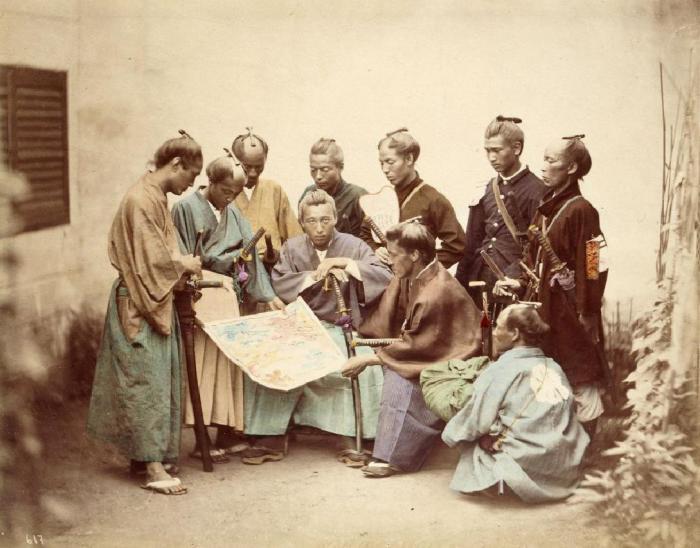 Японские самураи. | Фото: Википедия.