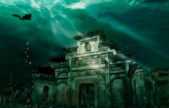 Древний китайский город, затопленный человеком. /Фото: livejournal.com