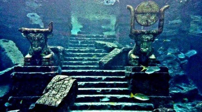 Уникальный город Кришны, ушедший под воду. /Фото: mediasole.ru