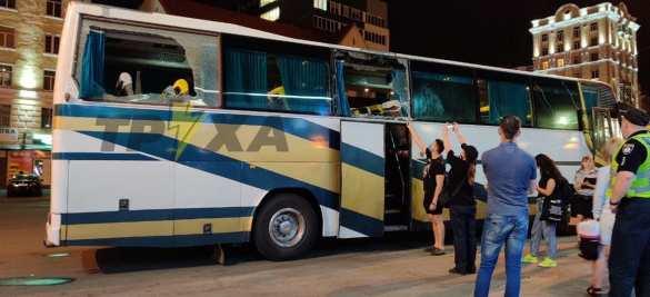 ВХарькове закидали камнями автобусы сторонников Шария (ФОТО, ВИДЕО) | Русская весна