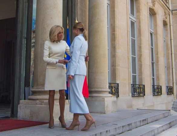 Леди Зе и мадам Макрон встретились в Париже (ФОТО)   Русская весна