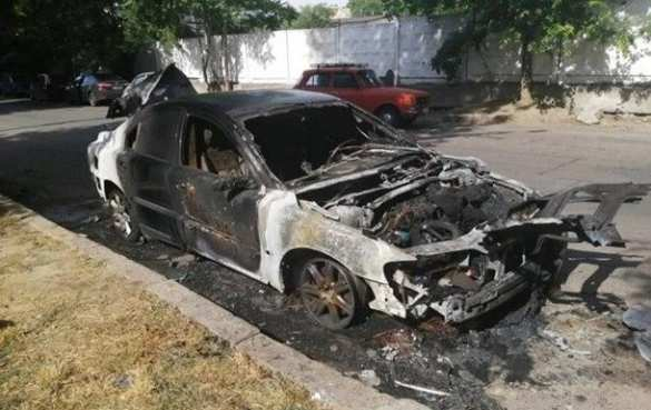 ВНиколаеве сожгли машину главаря местного «Нацкорпуса» (ФОТО, ВИДЕО) | Русская весна
