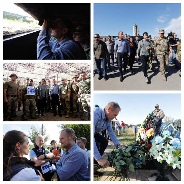 Туск прокомментировал визит на Донбасс (ФОТО) | Русская весна