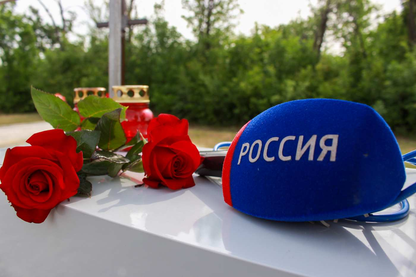 «У Корнелюка и Волошина было оружие», — в ЛНР почтили память погибших российских журналистов (ФОТО) | Русская весна