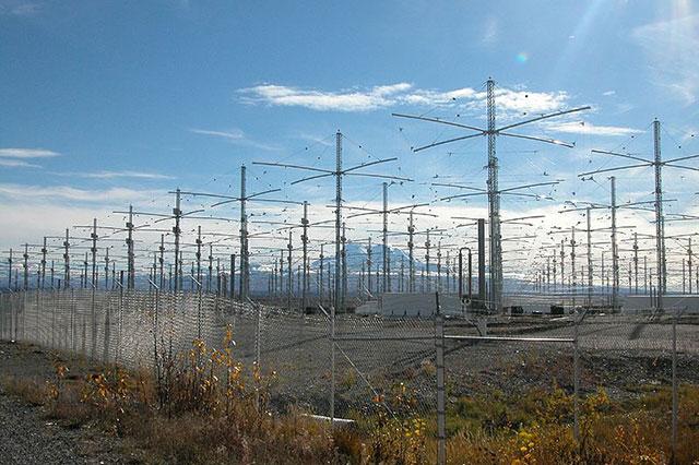 Антенны комплекса HAARP на Аляске.