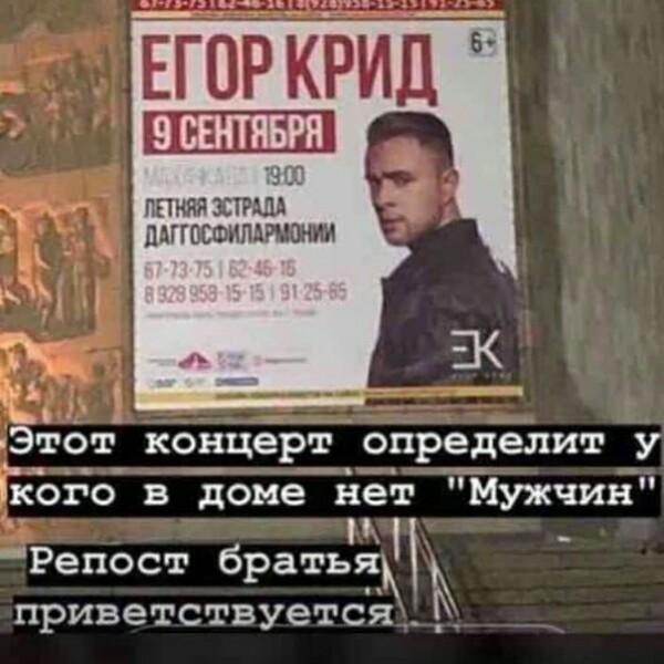 v dagestane boykotiruyut kontsert egora krida 2 6 «Кто пойдёт — тот петух!» В Дагестане бойкотируют концерт Егора Крида