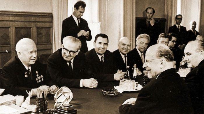 Н.С.Хрущёв и Ю.В.Андропов