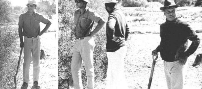 Роббон. Нельсон Мандела позирует в белых штанах